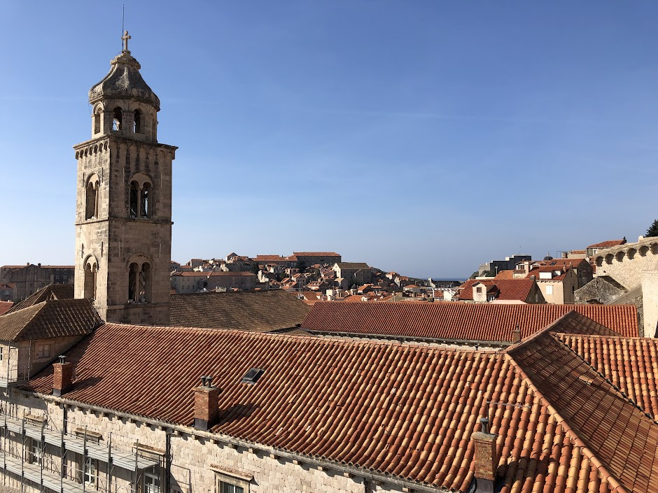 Dubrovnik view from old city walls