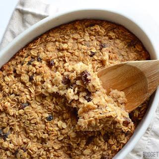 """Oatmeal Cookie"" Baked Oatmeal"
