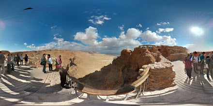Photo: Masada (2 of 5) - This gives you an idea of just how high up Masada is.