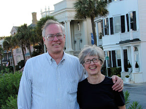 Photo: Fred and Maxine along Charleston's waterfront battery