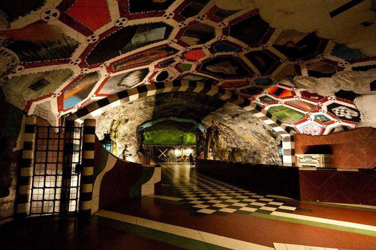 Stockholm underground art display