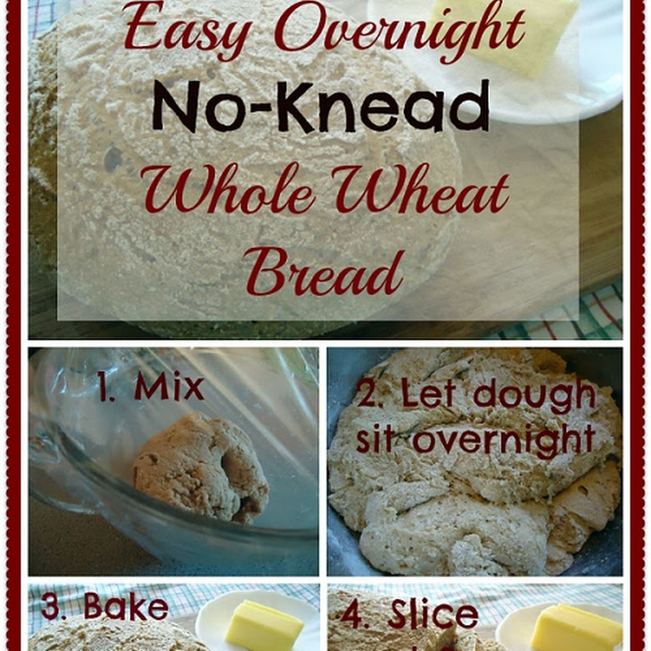 EASY! Overnight, No Knead Yeast Bread