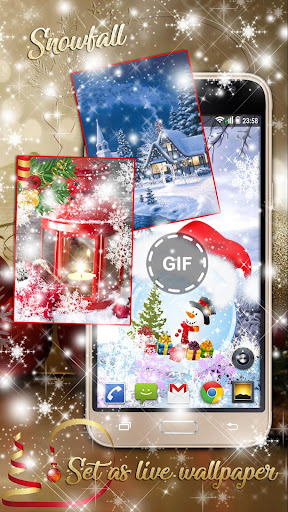 Christmas Songs Live Wallpaper with Music ud83cudfb6 2.8 screenshots 2