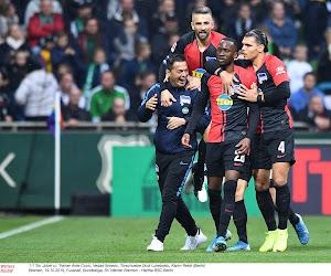 Bundesliga : Lukebakio et le Hertha Berlin l'emportent face au Wolfsburg de Casteels, Leipzig battu à Francfort