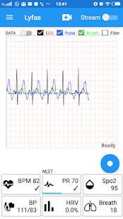 Lyfas - Monitor Heart , Pulse, HRV, Respiratory - náhled