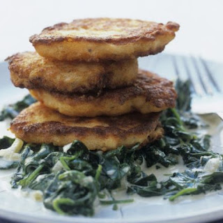 Fish Patties with Spinach.