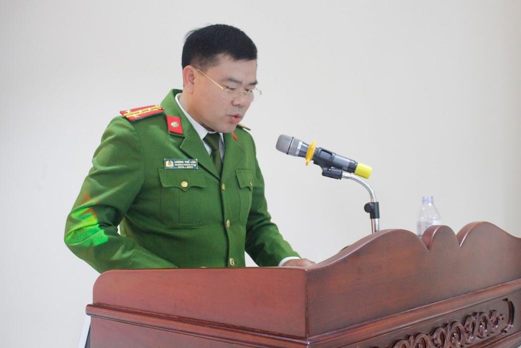 Đại tá Lương Thế Lộc, Trưởng phòng phát biểu tại Hội nghị