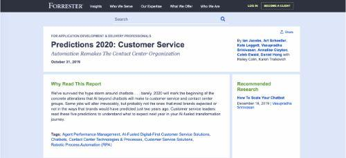 Predictions 2020: Customer Service