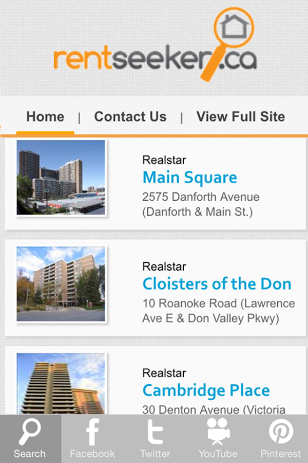RentSeeker.ca- screenshot