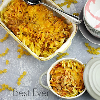 Best Ever Beefy Noodle Casserole