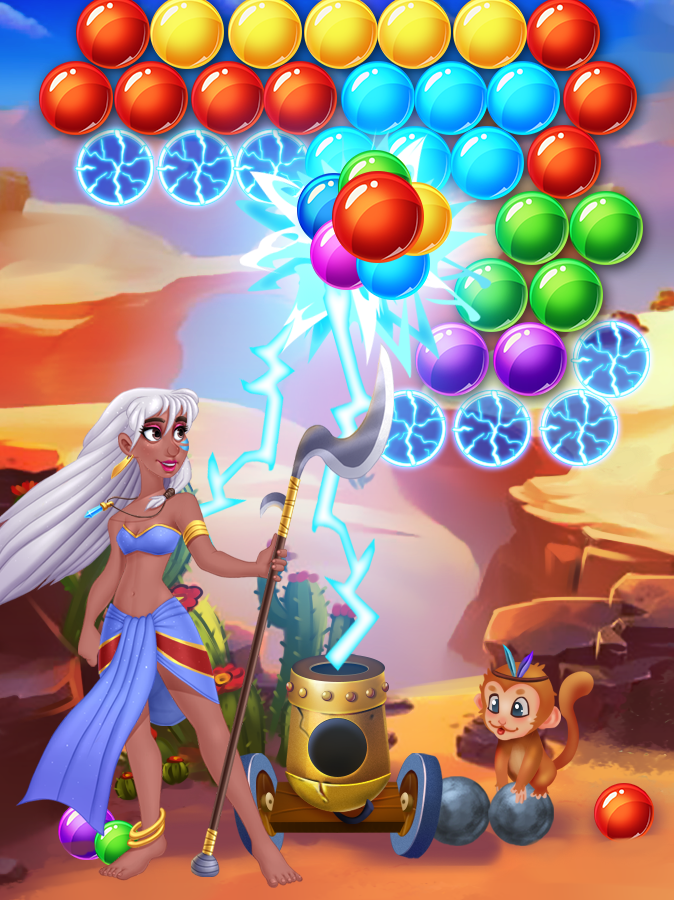 Brutal Tribe Bubble Shooter- screenshot