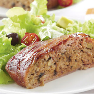 Bacon-Wrapped Pork Meatloaf.