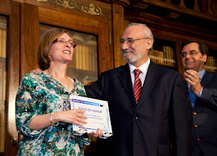 """Photo: Concesión del título de """"Socio de Honor"""" de la Biblioteca de Castilla-La Mancha"""