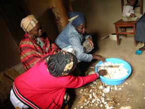 Photo: Preparing casava...