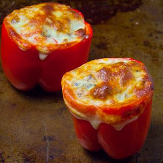 Easy Stuffed Red Peppers with Italian Sausage and Rice