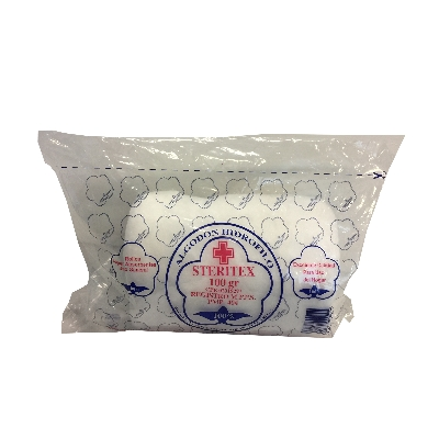 algodon steritex hidrofilo 100 gr