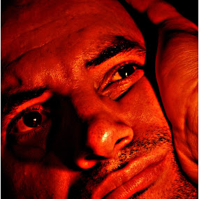 by Isaac De Jesus - Novices Only Portraits & People ( sadness, art, thought, light, portrait, man )