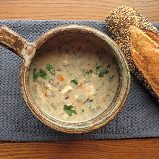 [Instant Pot] Chicken Mushroom & Wild Rice Soup.