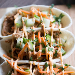 Asian BBQ Pork Taco Boats