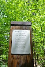Photo: We did a Robert Frost nature walk in Ripton, VT close to where he lived. It was actually not too cheesy and I loved it.