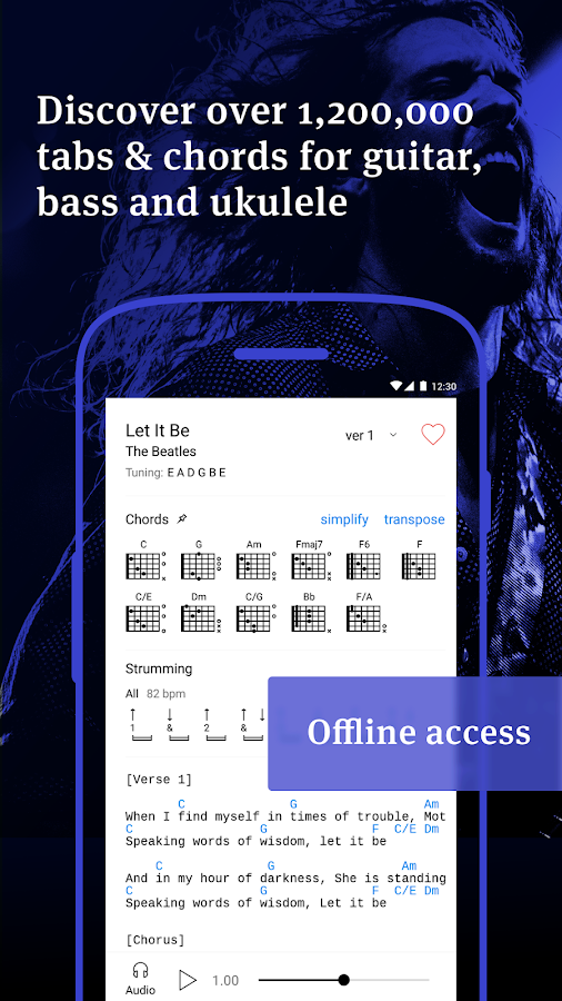 Ultimate Guitar Tabs & Chords: captura de pantalla