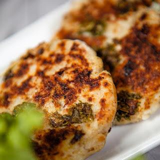 Kale and Mashed Potato Cakes.