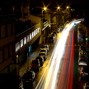 Lead and leave a trail so others can follow !!! by Sraddheshnu Basu - City,  Street & Park  Street Scenes ( florence, trail, street, night, city )