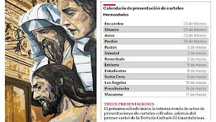 Calendario de presentaciones de carteles de las hermandades almerienses.