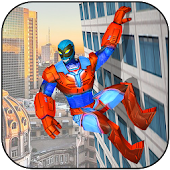 Flying Super-Hero Pacific City Rescue Mission Android APK Download Free By Mad Titans
