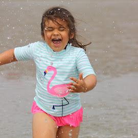 Carefree by Abigail Beard - Babies & Children Children Candids ( maine, childhood, carefree, happy, kid, girl, sun, water, ogunquit, summer, running, niece, ocean, children, splashing, candid, beach, fun, laughter, photography, child, laughing )