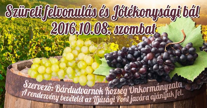Szüreti felvonulás és Jótékonysági bál 2016.10.08