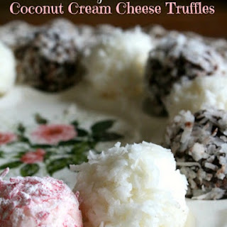 Coconut Cream Cheese Truffles