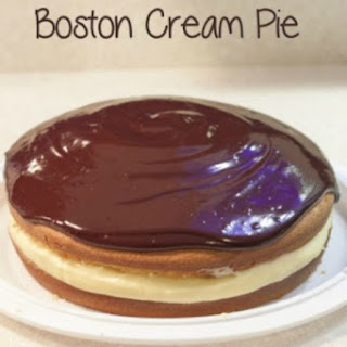 Boston Cream Pie Recipe with Homemade Vanilla Custard
