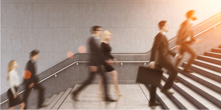 commuters-walking-to-work-up-stairs