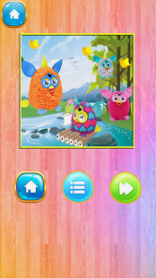 Slide Furby Puzzle game - náhled
