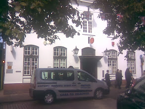 Photo: A newly painted post office, and a new taxi on the rank outside - a definite photo oppurtunity..