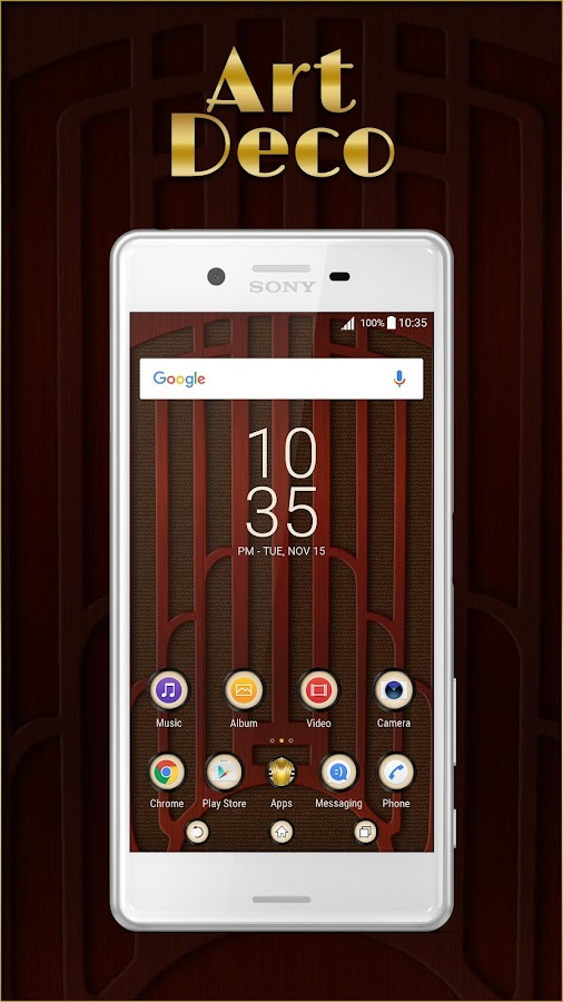 XPERIA™ Art Deco Theme- screenshot