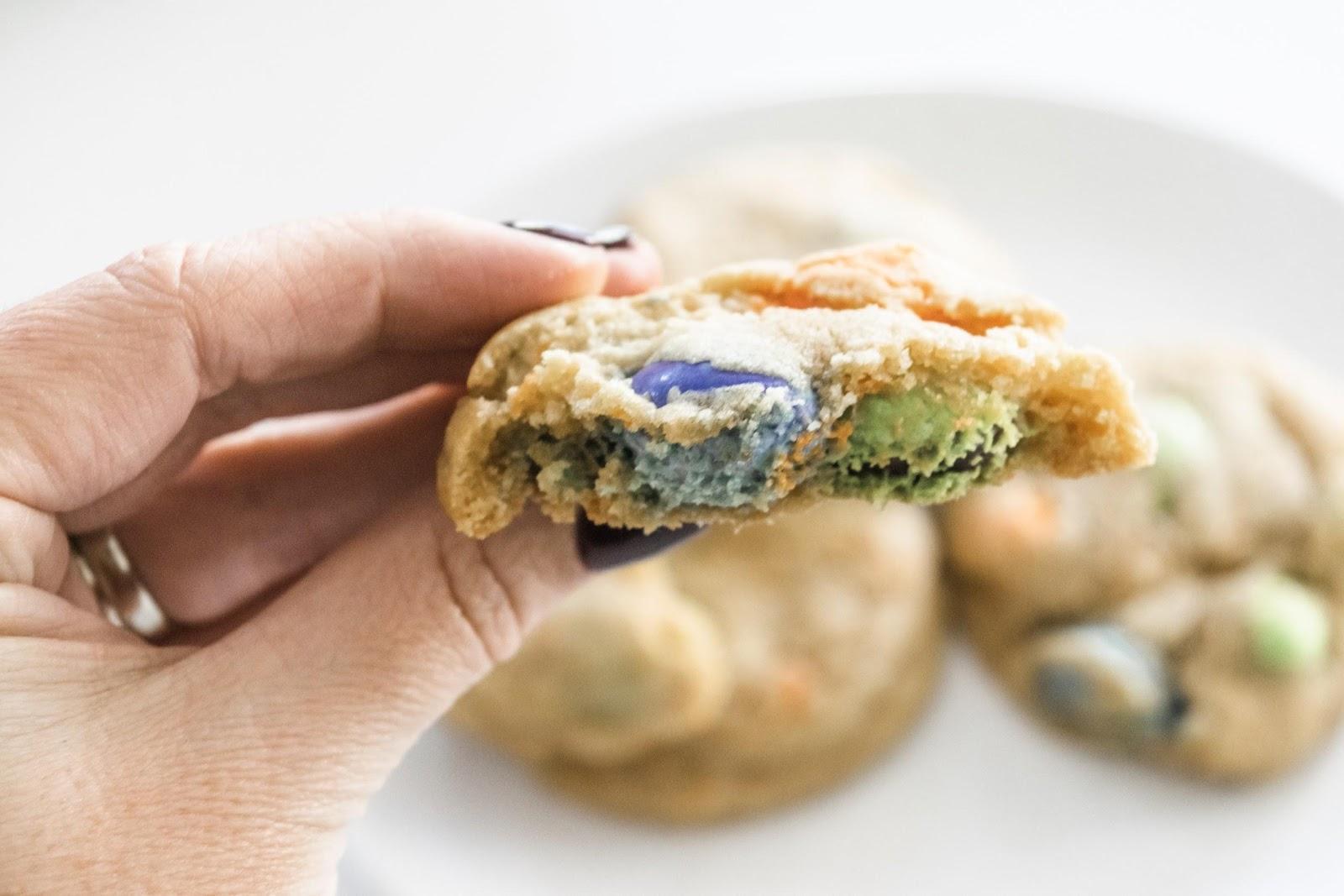 Mason Jar M&M'S Ghoul Cookies