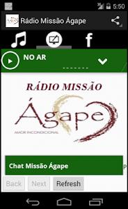 Rádio Missão Ágape screenshot 1