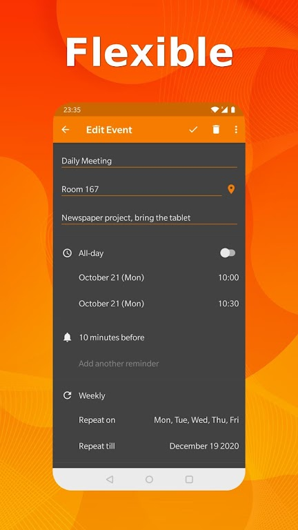 Simple Calendar Pro - Events & Reminders Manager  poster 3