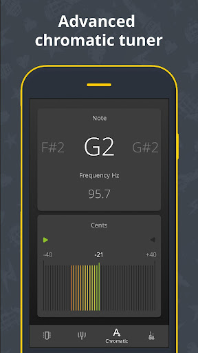 Chromatic Guitar Tuner Free: Ukulele, Bass, Violin 2.4.9 screenshots 2