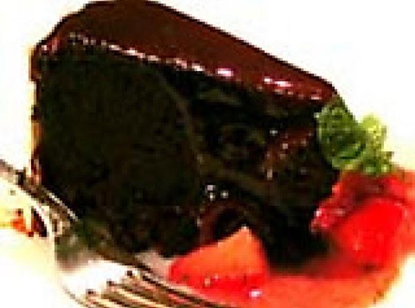 Flourless Chocolate-kahlua Cake W/cajeta N' Strawberry-lime Salsa Recipe