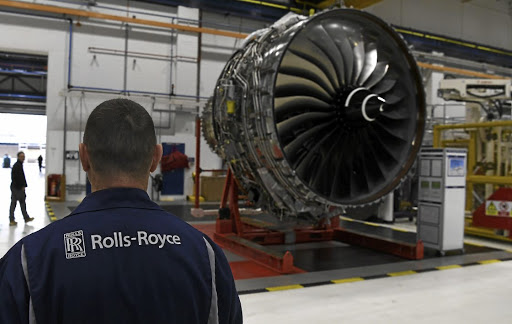 Speeding up: Rolls-Royce Trent XWB engines, designed  for the Airbus A350 family of aircraft, are seen on the assembly line at the Rolls-Royce factory in Derby. The group plans to almost double its output of such engines  engines by 2019.   Reuters