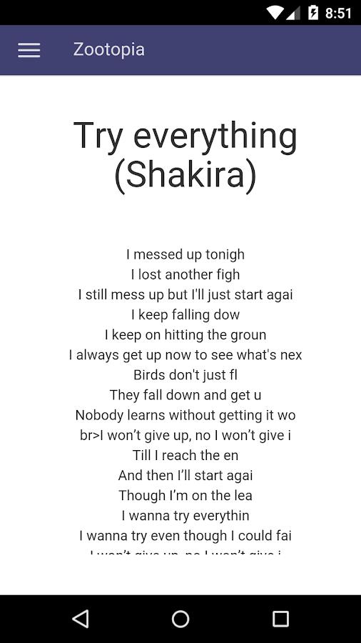 Zootopia Lyrics - Android Apps on Google Play