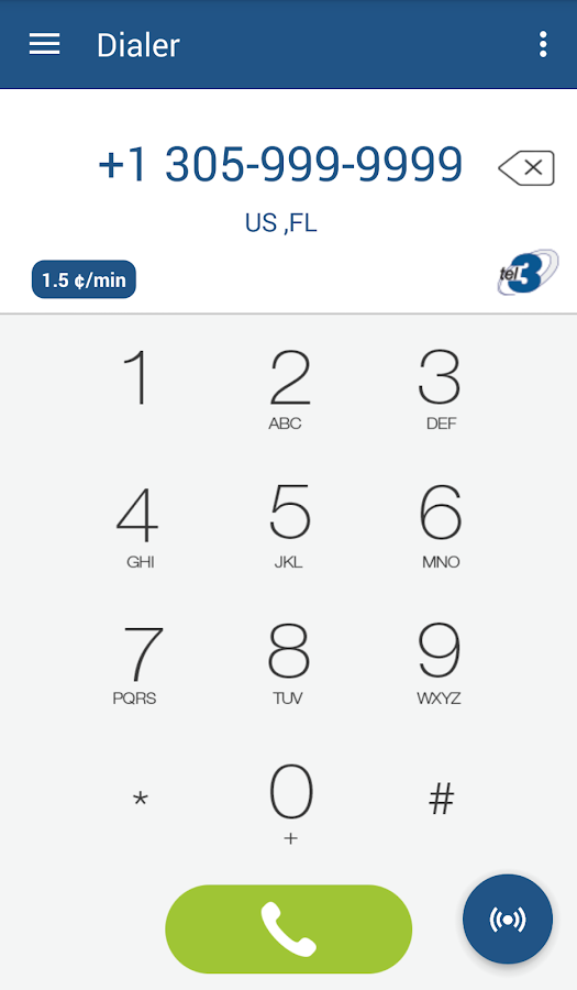 TEL3App- screenshot