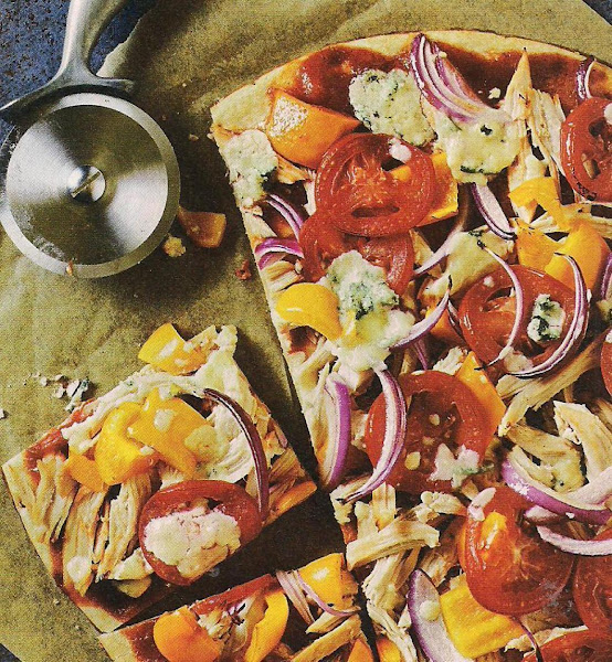 Barbecued Chicken And Blue Cheese Pizza Recipe