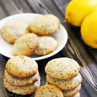 Gluten-Free Vegan Lemon Chia Seed Cookies (Vegan, Gluten-Free, Dairy-Free, Flourless, Egg-Free, Soy-Free, Paleo-Friendly, No Refined Sugar).