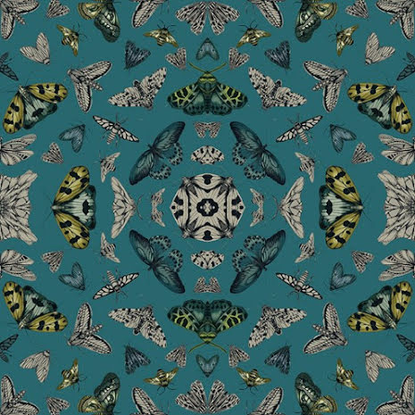 Fantasia Glitter Bug Mörkgrön (Emerald) tapet från Arthouse 903296