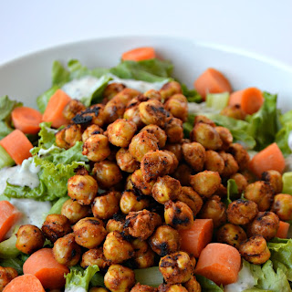 Roasted Buffalo Chickpeas + Buffalo Chickpea Salad