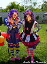 Photo: Hire two entertaining clowns to face paint and twist balloons at your child's party! Call to book Bibi today: 888-750-7024